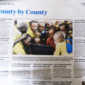 Daily Nation Coverage for Lewa Primary School Library
